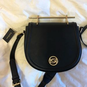 NWT Bebe Over the Shoulder Crossbody Black Purse